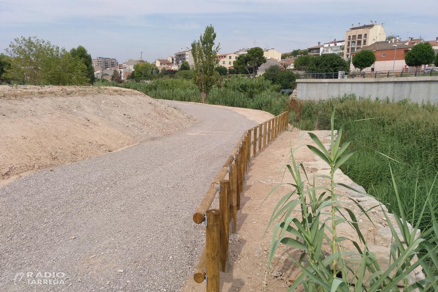 L'Ajuntament de Tàrrega ultima els treballs per habilitar un nou espai de passeig vora la riba del riu Ondara