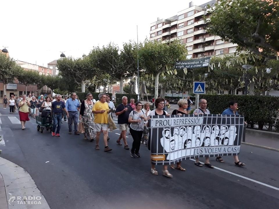 Manifestació a Tàrrega aquest diumenge 15 de setembre pels 23 mesos de presó preventiva dels Jordis