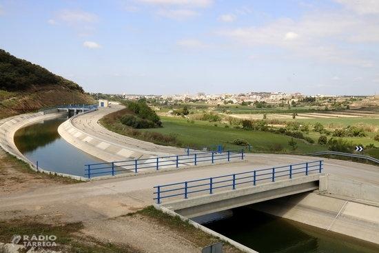 El Govern destinarà 352 MEUR al canal Segarra-Garrigues per garantir-ne la continuïtat fins a la seva finalització