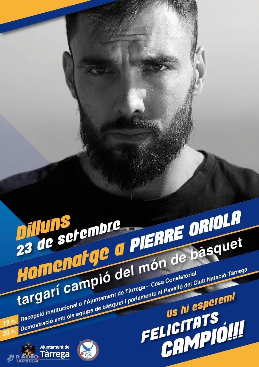 Tàrrega homenatjarà Pierre Oriola, campió del món de bàsquet, el dilluns 23 de setembre