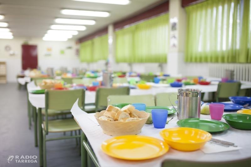 El Consell Comarcal de l'Urgell atorga 470 beques de menjador escolar per al curs 2019-2020