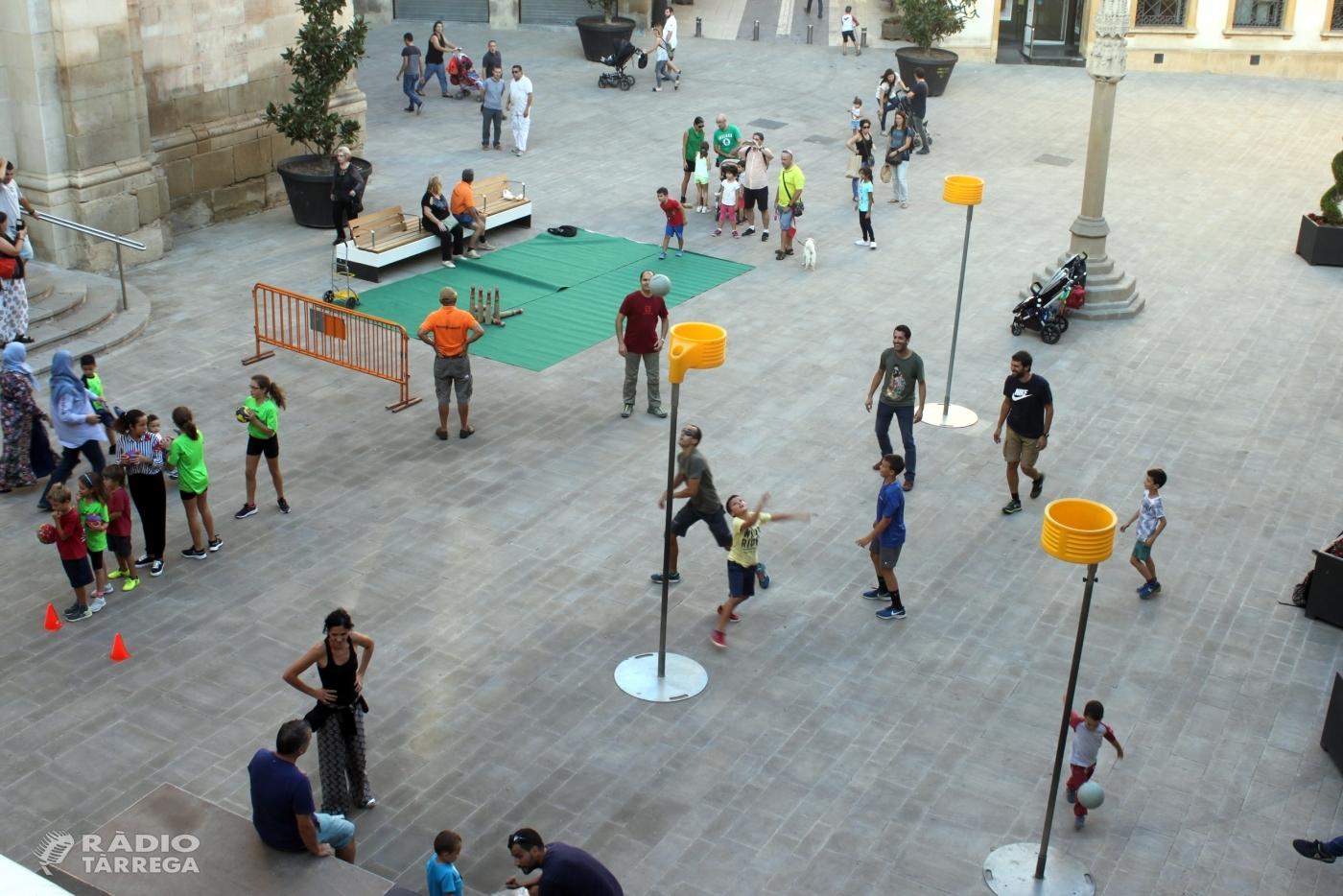 Tàrrega celebra la Setmana Europea de l'Esport amb activitats participatives a la renovada plaça Major