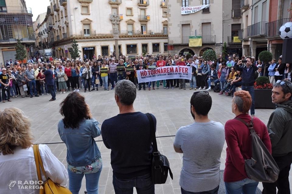 Tàrrega surt al carrer contra la sentència al procés català
