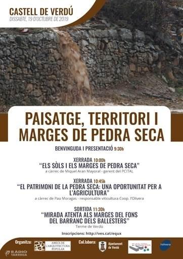 Jornada 'Territori, Paisatge i Marges de Pedra Seca' a Verdú