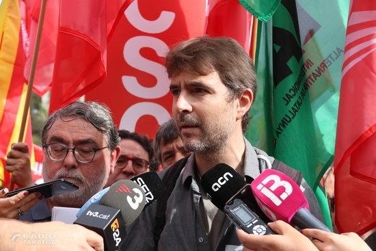 """Els sindicats convocants afirmen que el seguiment a la vaga general és """"superior al del 3-O"""""""