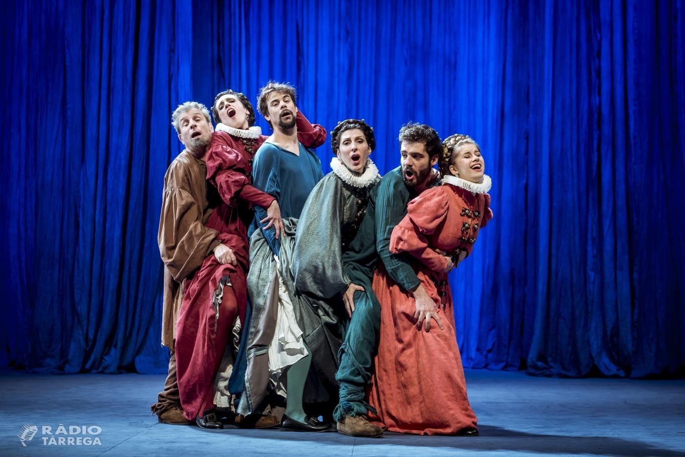 Dagoll Dagom i T de Teatre porten a Tàrrega el dissabte 26 d'octubre la coproducció La tendresa, comèdia romàntica d'inspiració shakespeariana