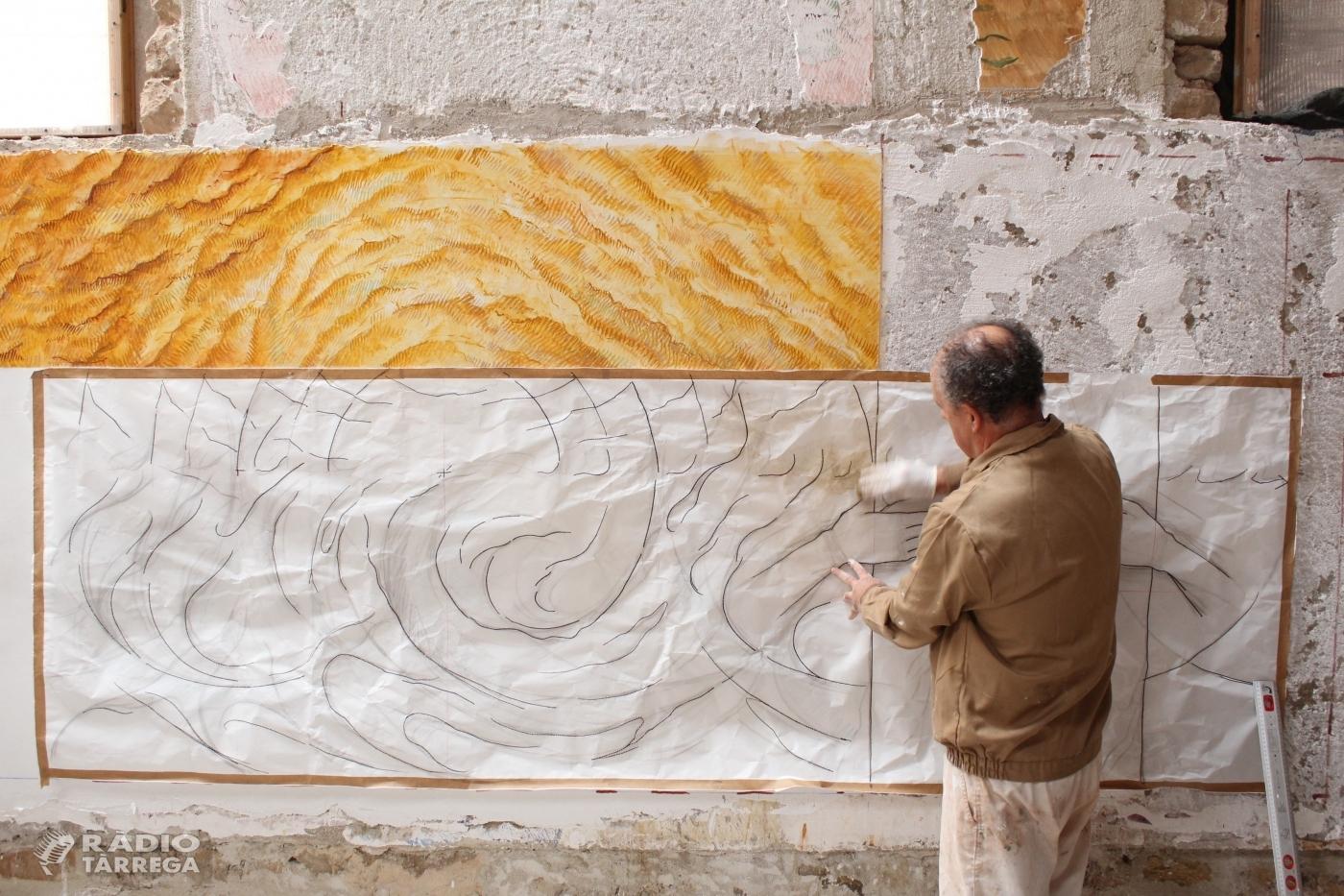 Josep Minguell exporta la pintura al fresc al Japó utilitzant la tècnica de l'strappo