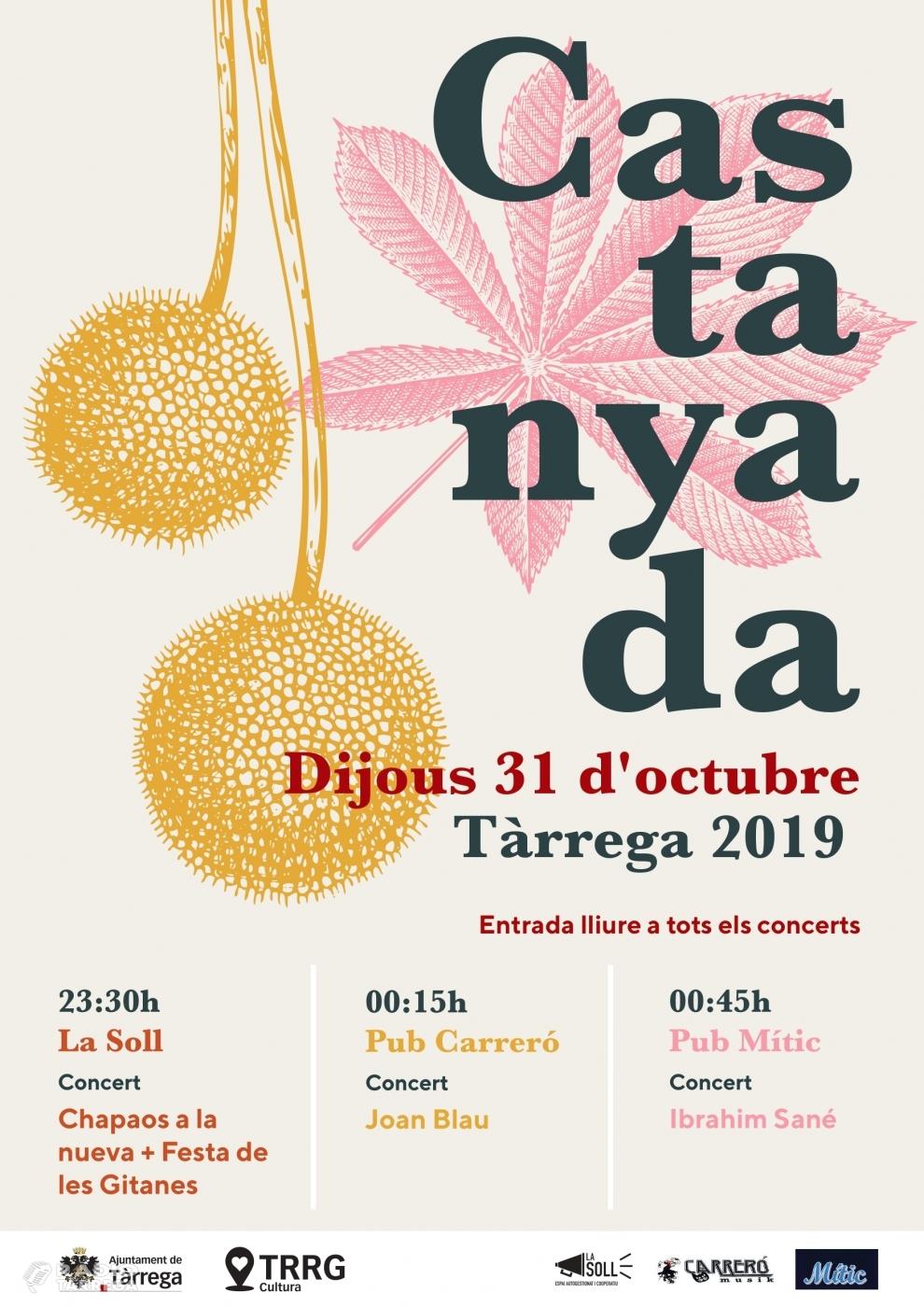 Triple concert a Tàrrega per la nit de la Castanyada amb Chapaos a la Nueva, Joan Blau i Ibrahim Sané