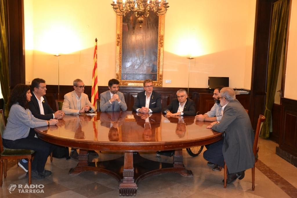 Diputació de Lleida i Govern de la Generalitat segellen el compromís per seguir el desplegament de fibra òptica a la demarcació