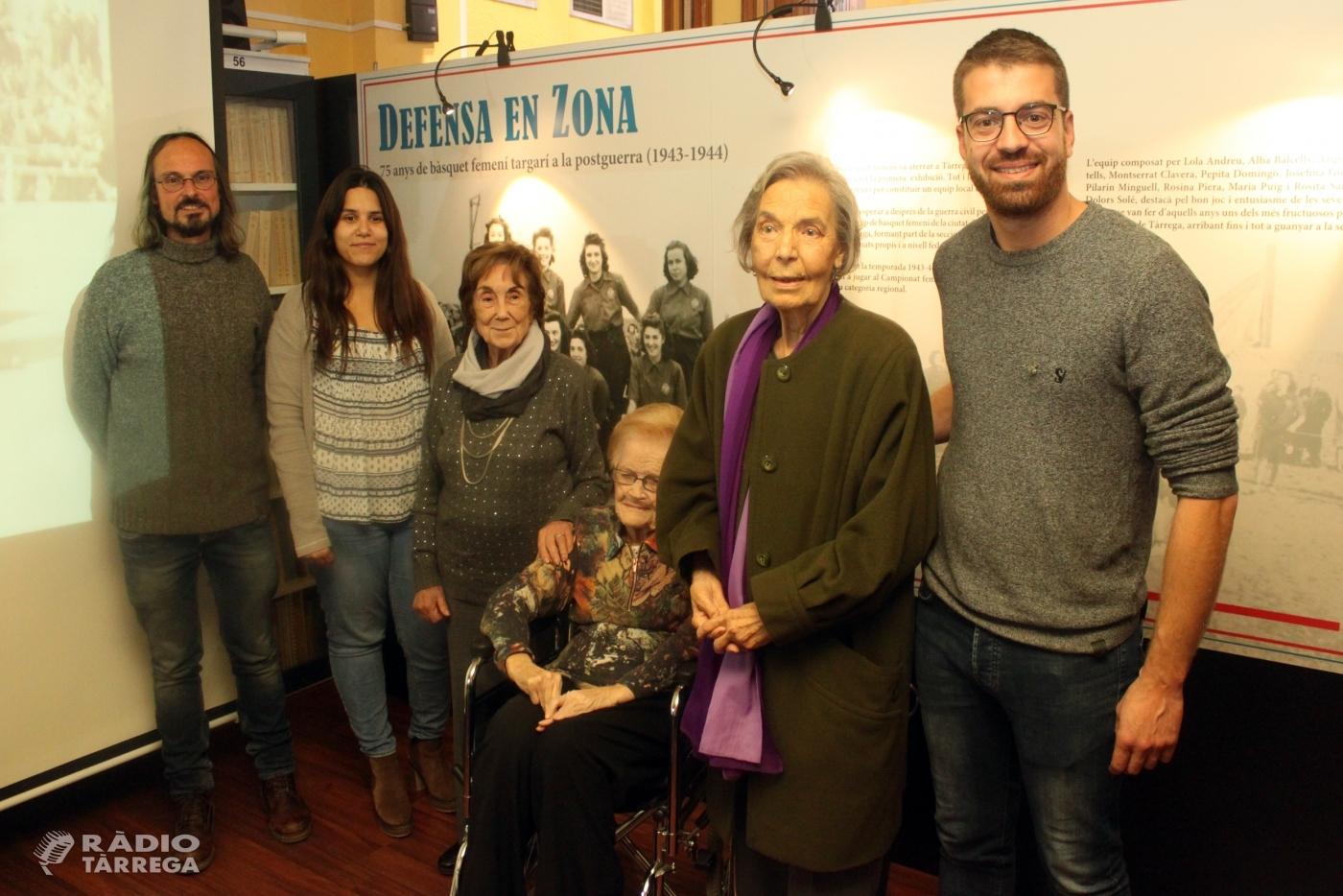 Homenatge a les dones pioneres del bàsquet femení de Tàrrega amb una exposició a l'Arxiu Comarcal de l'Urgell