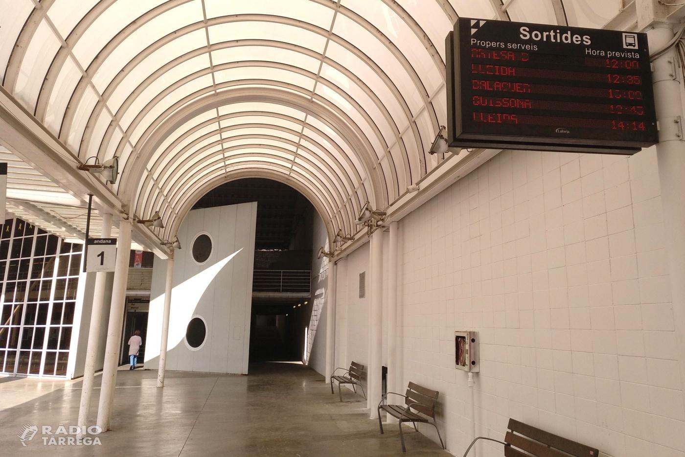 Treballs de millora a l'estació d'autobusos de Tàrrega