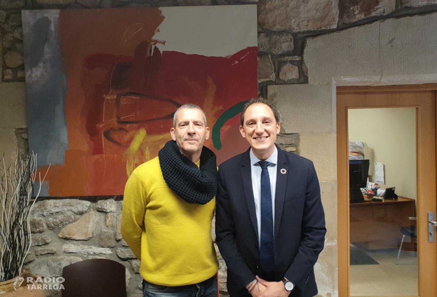 El subdelegat es reuneix amb l'alcalde de Sant Martí de Riucorb i l'alcaldessa de Vallbona de les Monges