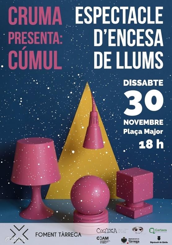 Tàrrega encendrà el dissabte 30 de novembre les llums de nadal amb un espectacle exclusiu