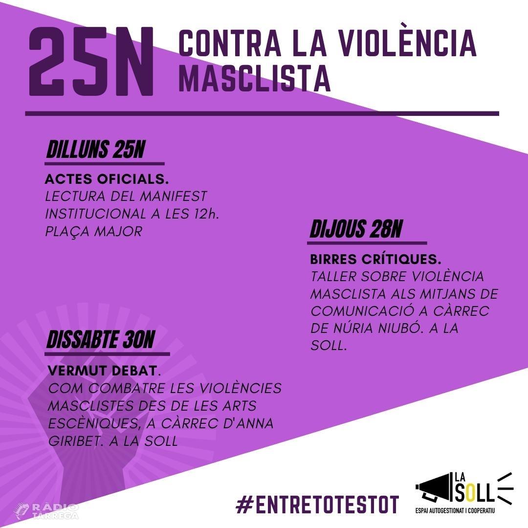 La Soll prepara els actes del Dia Internacional per a l'Eliminació de la Violència envers les Dones