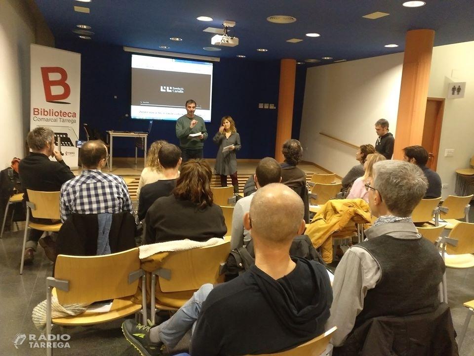 Es presenta a Tàrrega la convocatòria del premi Lluís Carulla a les Terres de Lleida