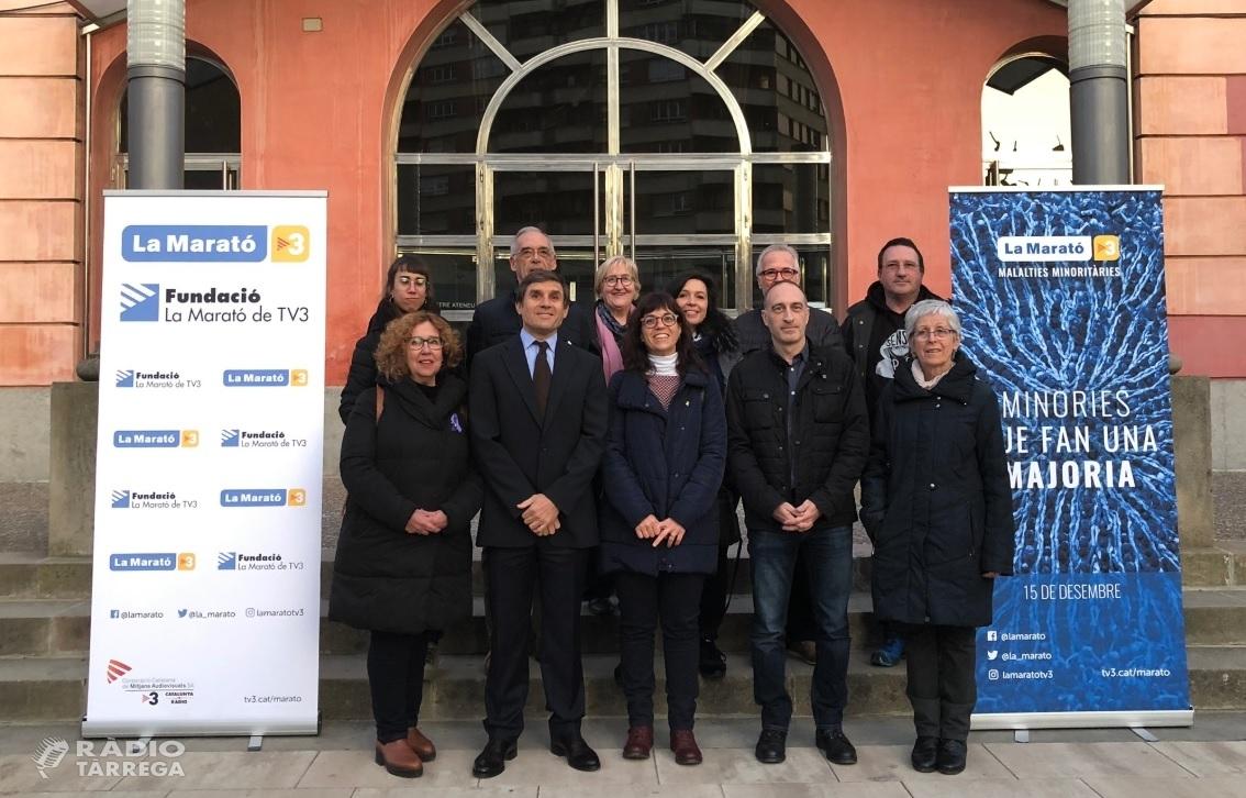 Tàrrega acollirà el diumenge 15 de desembre un dels platós territorials de La Marató de TV3, dedicada a la lluita contra les malalties minoritàries