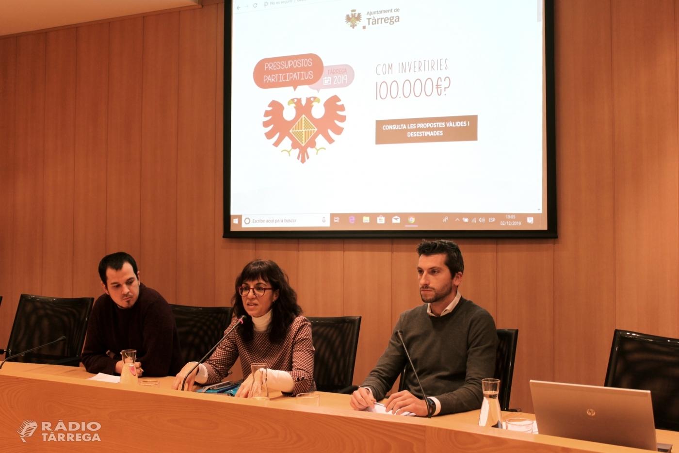 Tàrrega convoca un fòrum ciutadà per debatre 76 propostes formulades en el marc dels pressupostos participatius
