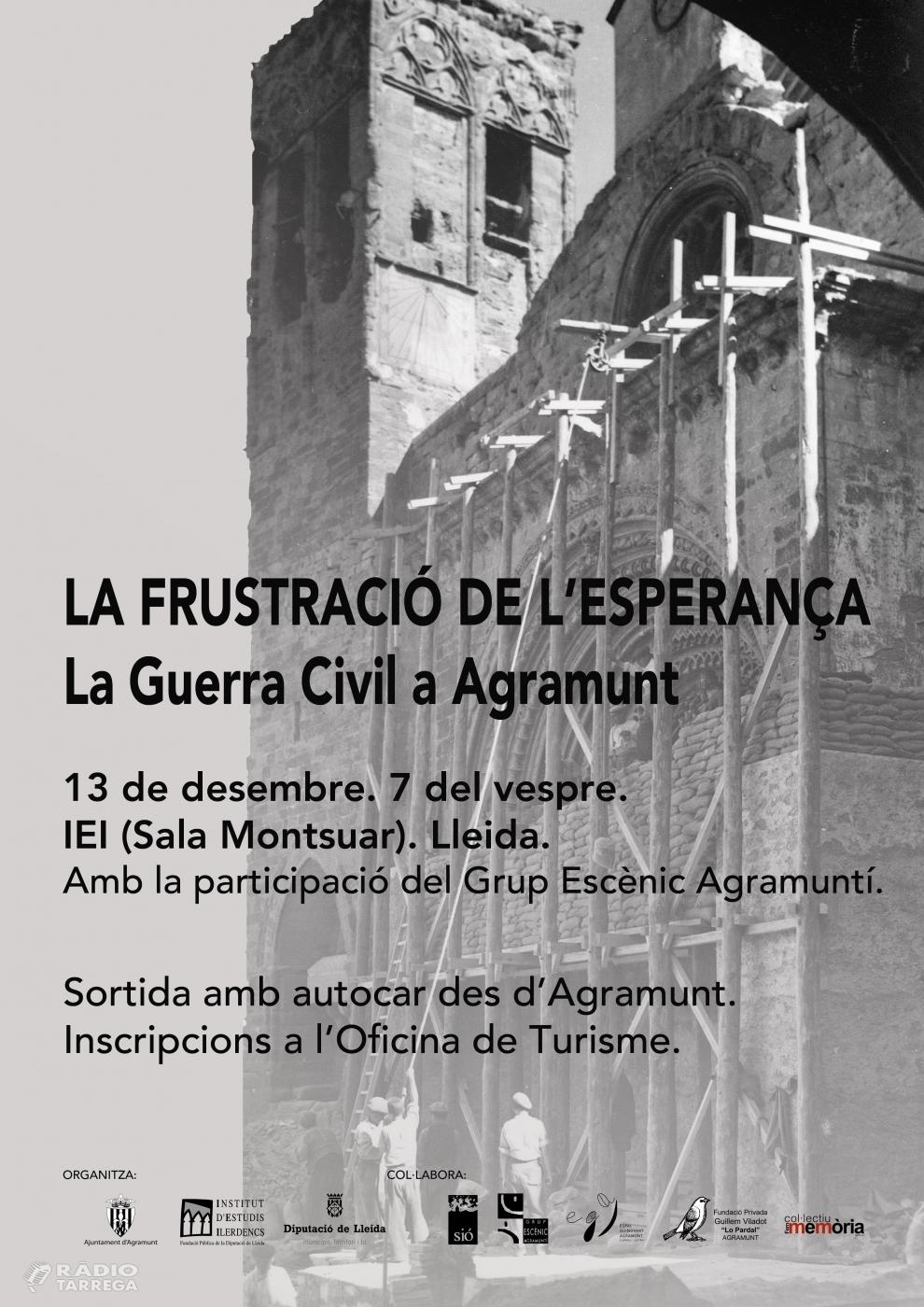 Presentació de l'exposició 'La frustració de l'esperança. La Guerra Civil a Agramunt'