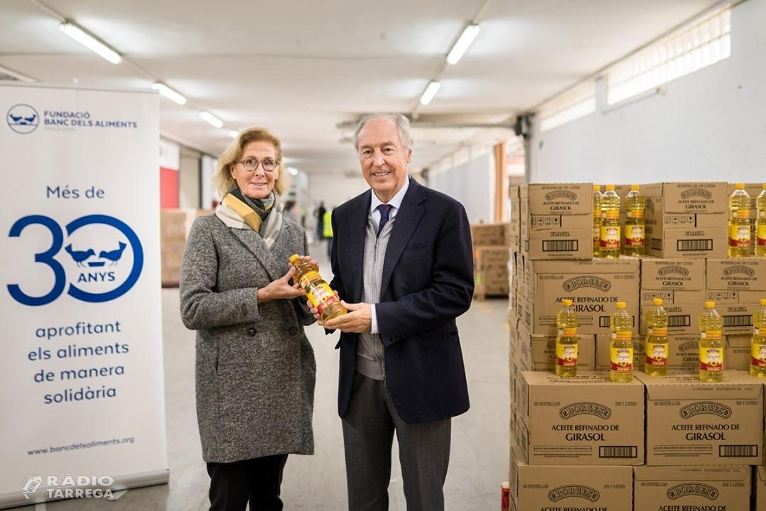 Borges International Group col·labora amb el Banc dels Aliments donant més de 10.000 litres d'oli