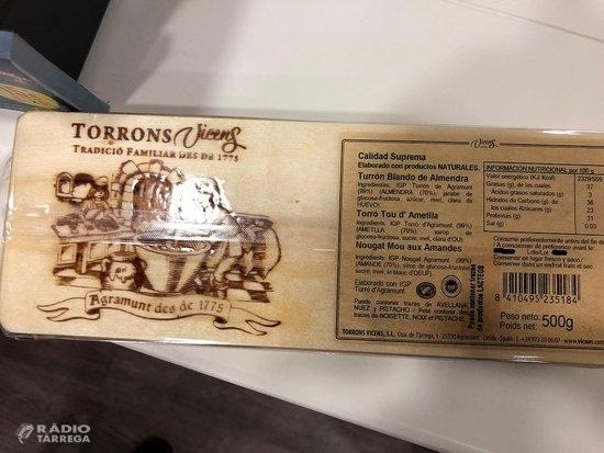 L'error en l'etiquetatge de turrons Vicens afecta dos lots de 500 grams