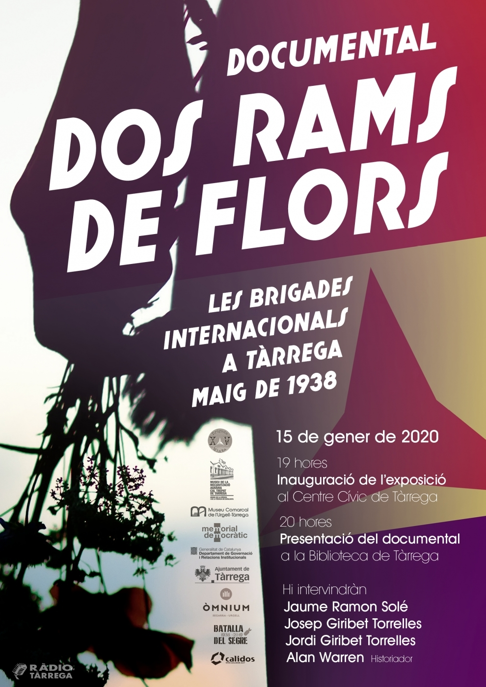 """""""Dos rams de flors"""" és el títol d'una exposició i documental sobre l'estada de les Brigades Internacionals a la Segarra i a l'Urgell el maig de 1938"""