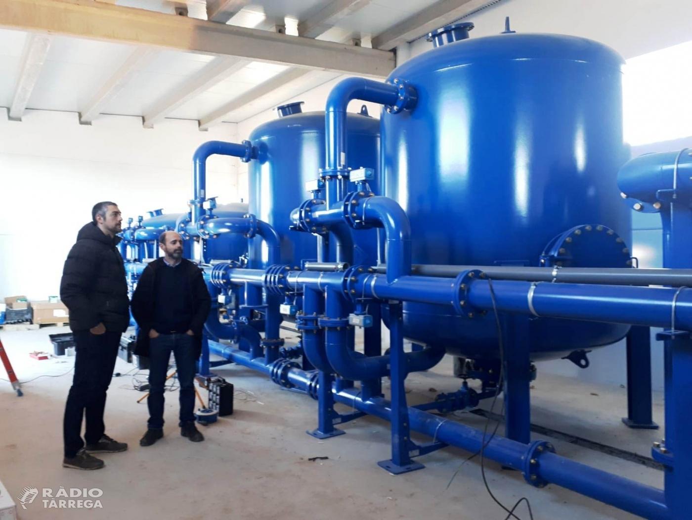 La nova potabilitzadora d'Agramunt subministrarà aigua a Montclar