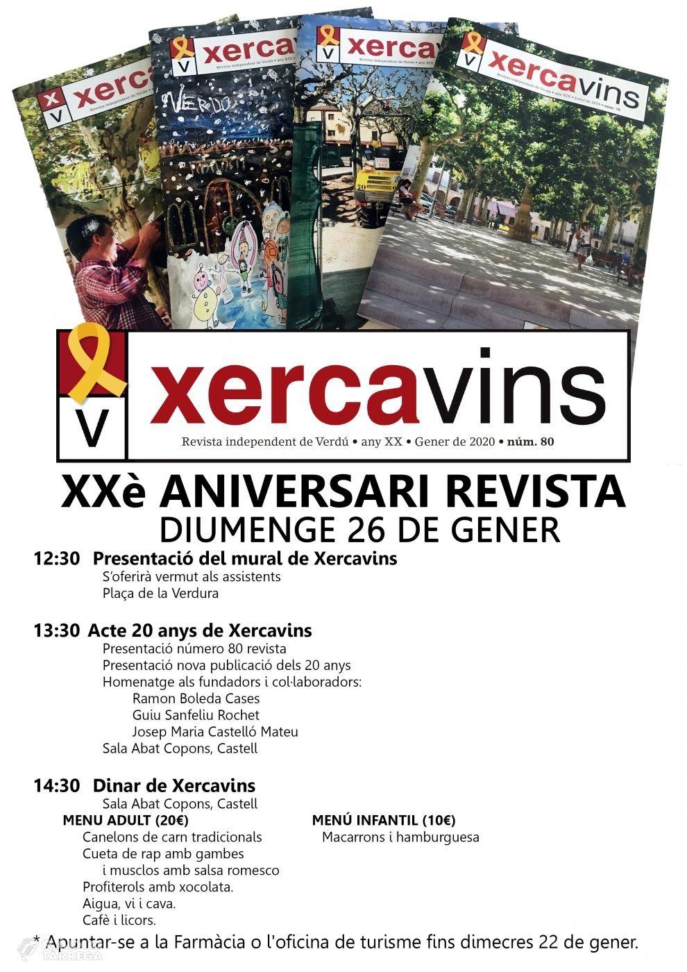 La revista Xercavins de Verdú fa 20 anys