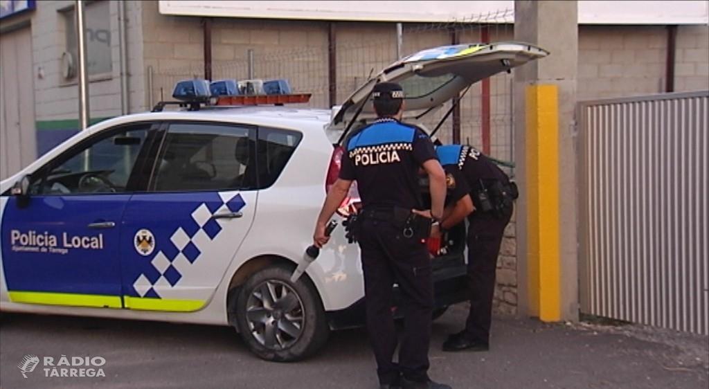 La Policia Local de Tàrrega augmenta el patrullatge preventiu davant l'increment d'intents de robatori