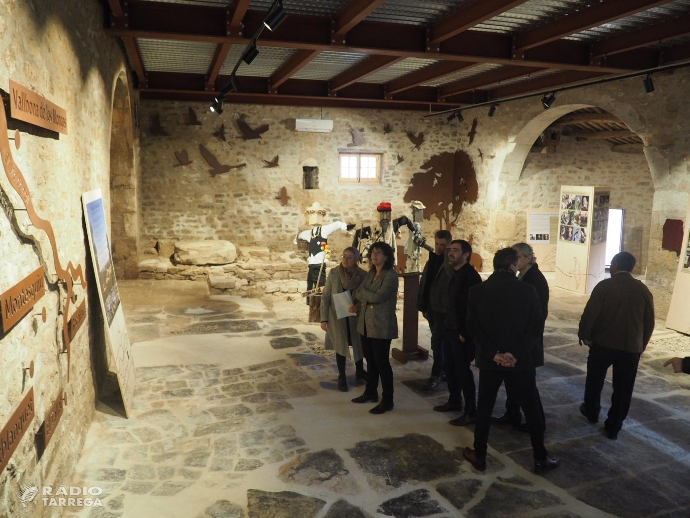 La consellera Jordà inaugura l'Espai Maldanell a Vallbona de les Monges