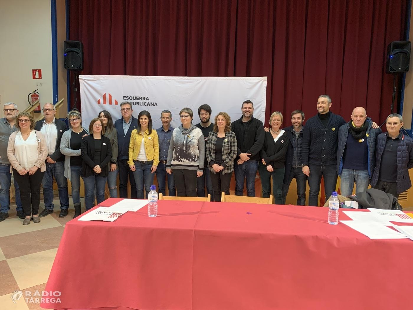 La Federació Regional de Lleida d'ERC escull a Miquel Serra com a president i a Montserrat Fornells com a secretària general a Sant Martí de Maldà