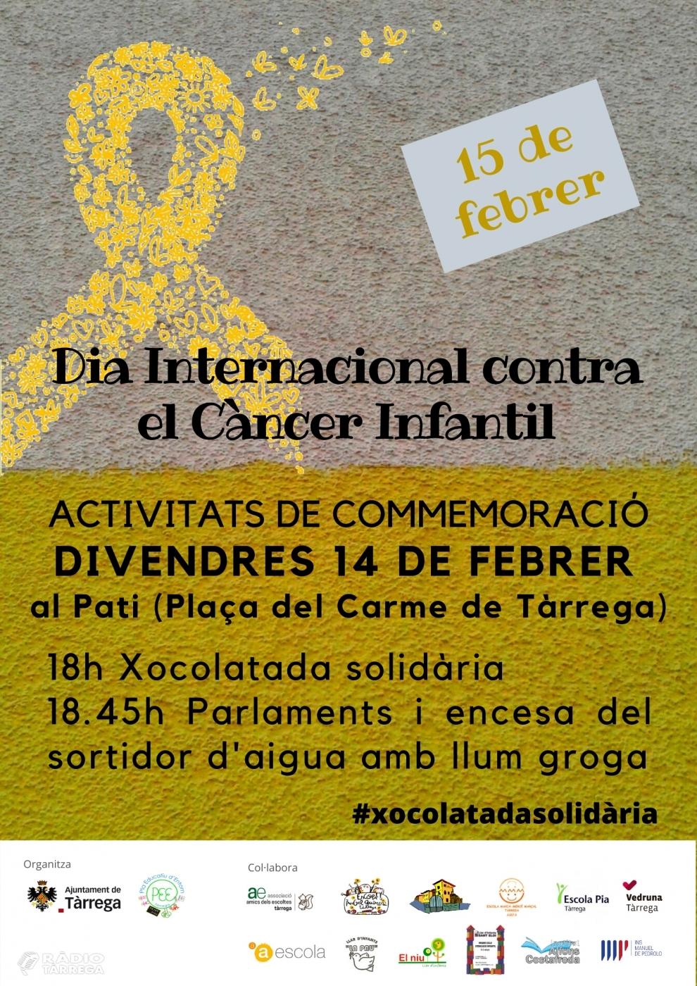 Tàrrega organitza el divendres 14 de febrer un acte solidari contra el càncer infantil