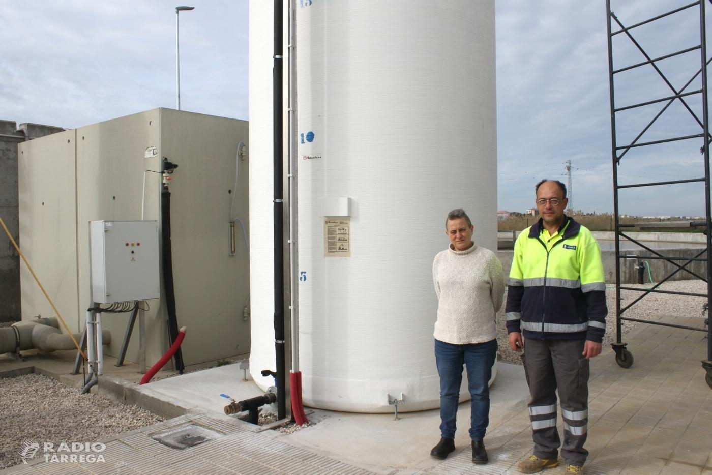 Tàrrega enllesteix obres a la depuradora per millorar la qualitat de l'aigua tractada que es retorna al medi natural