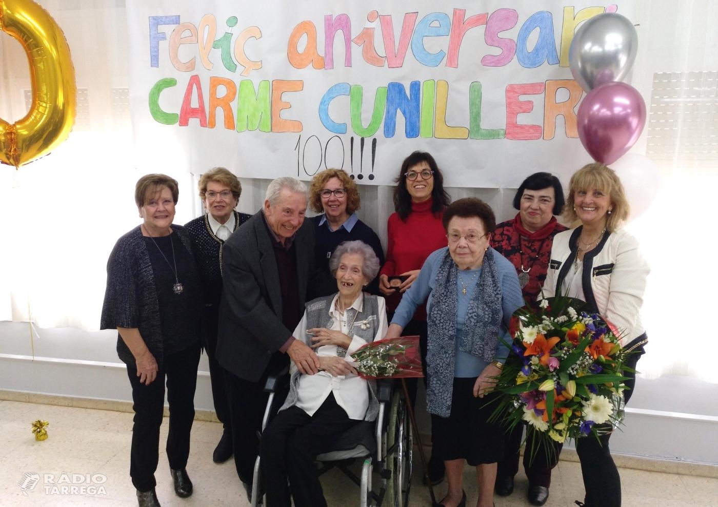 Homenatge a Carme Cunillera Segarra, àvia centenària de Tàrrega