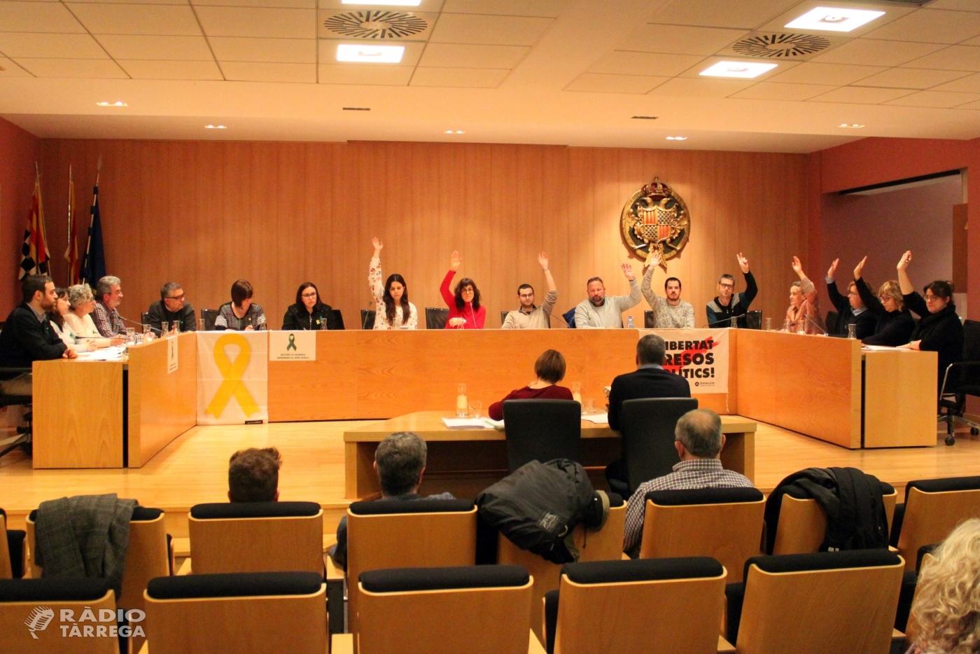 El Ple de Tàrrega aprova un nou pressupost municipal de 17,5 milions d'euros