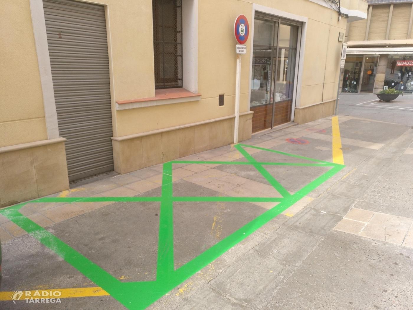 Tàrrega habilita llocs d'estacionament amb una durada màxima de 10 minuts per a veïns residents als carrers vianalitzats del centre
