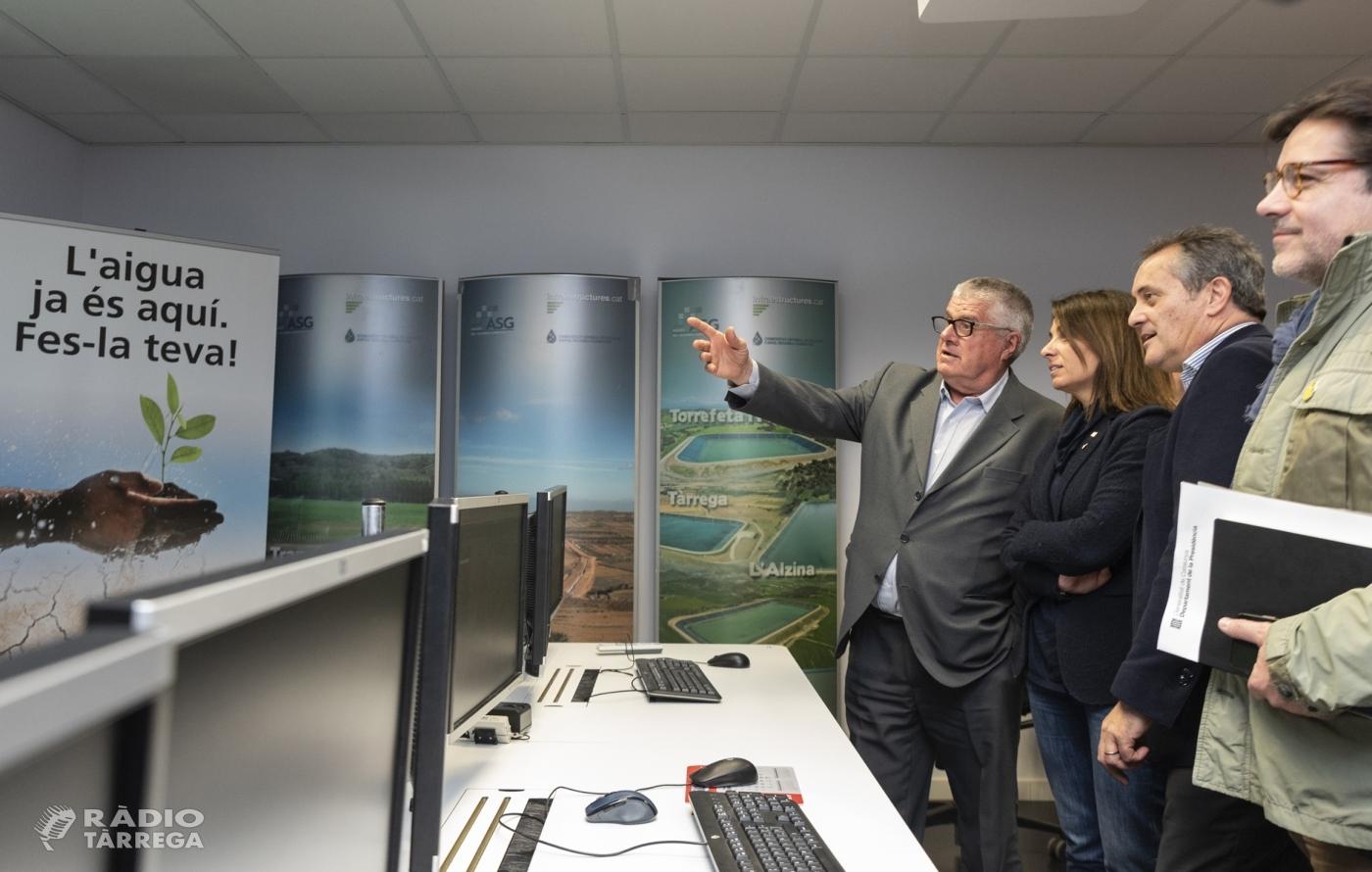 La consellera Budó es 'compromet a treballar conjuntament amb el territori' les peticions de la comunitat de regants del canal Segarra-Garrigues