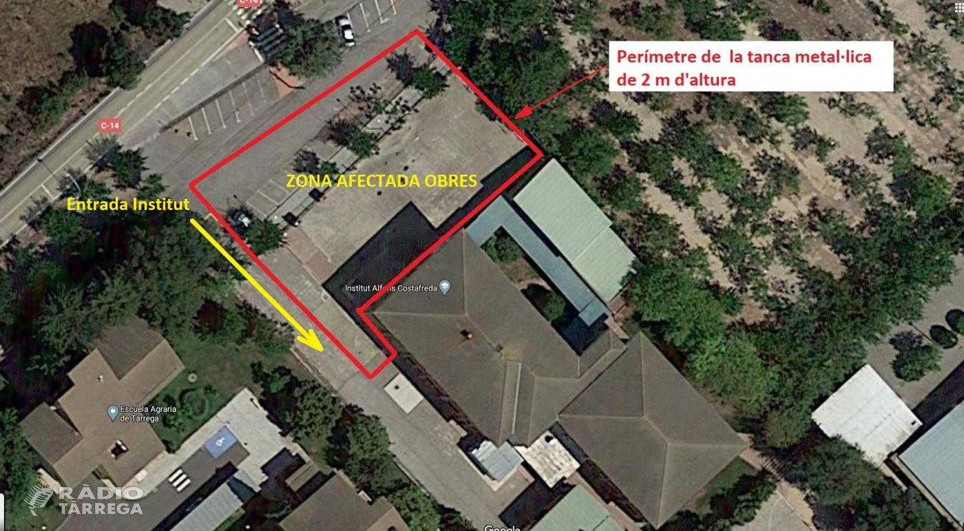La setmana vinent es preveu l'inici de les obres d'ampliació de l'Institut Alfons Costafreda de Tàrrega
