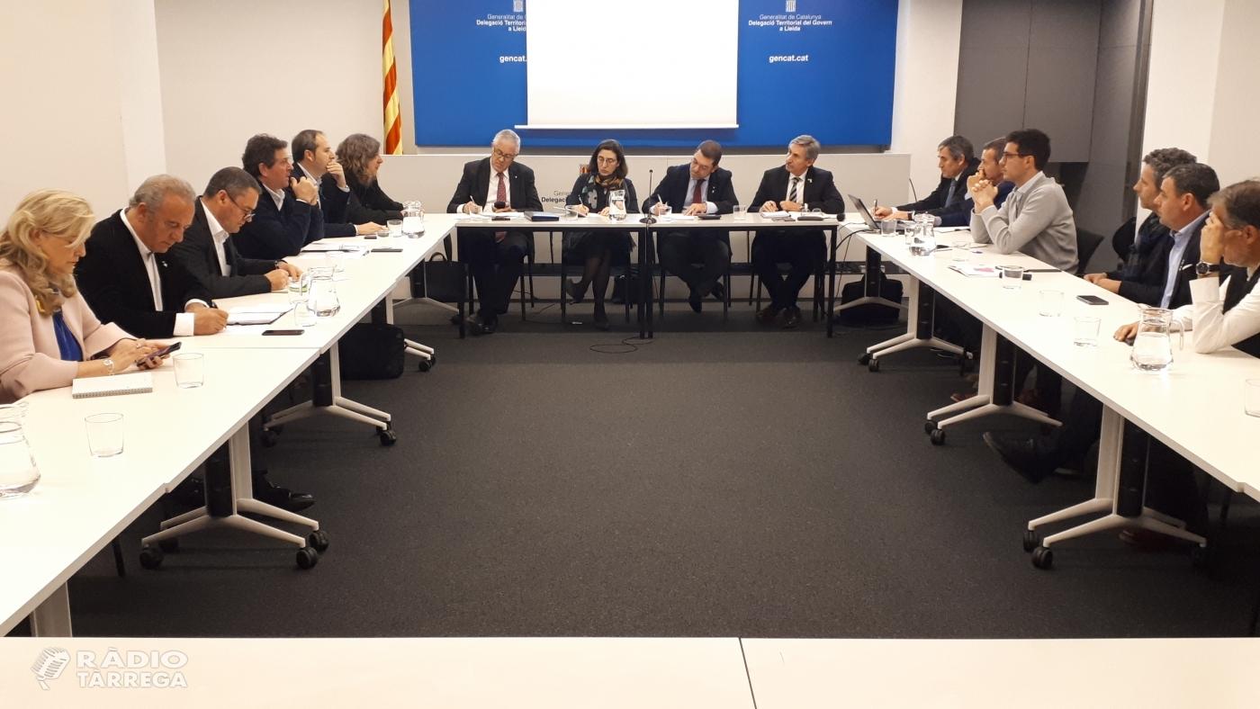 El secretari d'Empresa i Competitivitat, Joaquim Ferrer, es reuneix amb 7 presidents de consells comarcals de Lleida i Endesa per analitzar la qualitat del subministrament elèctric