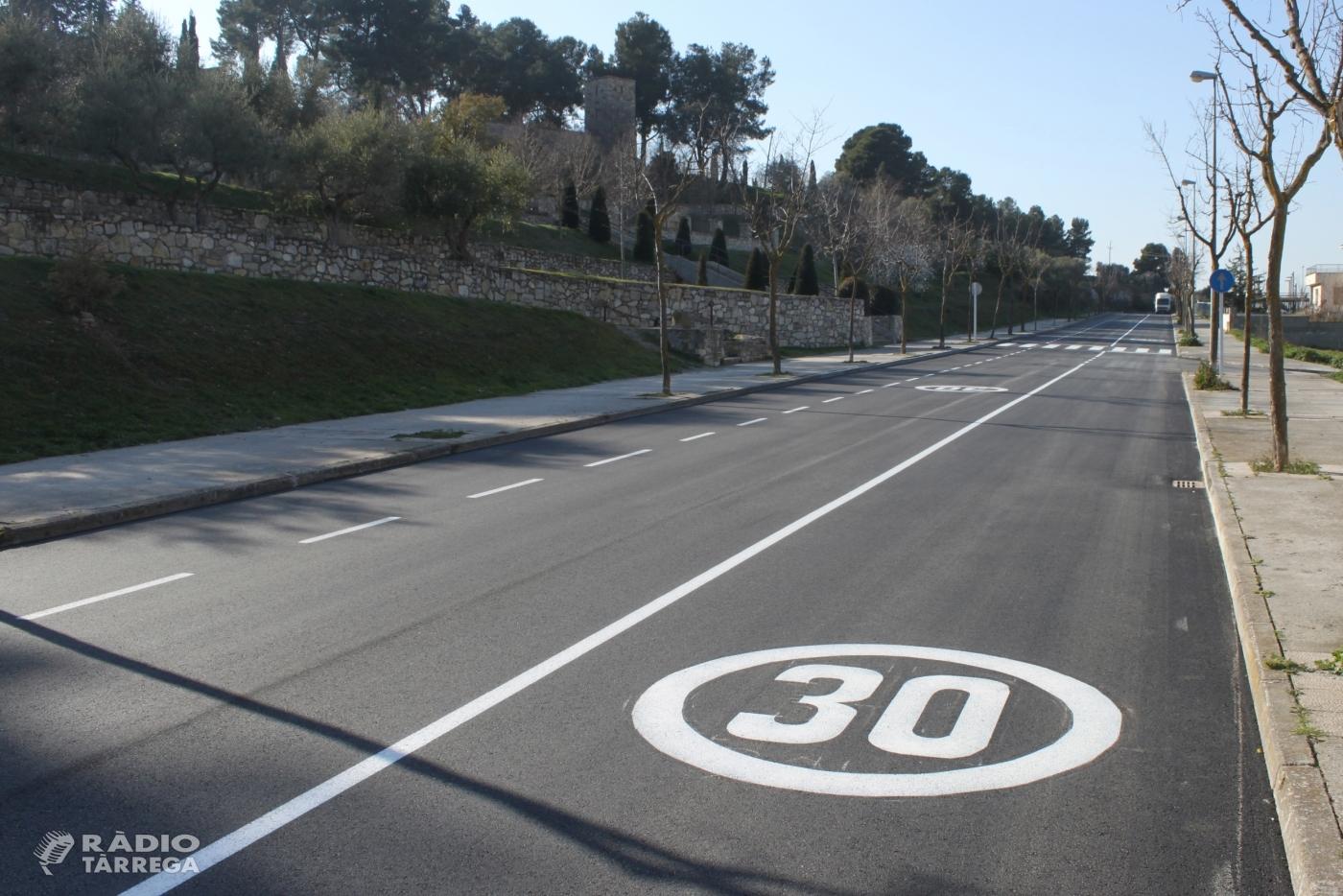 L'Ajuntament de Tàrrega finalitza els treballs de millora del carrer de Les Oliveres, situat a la falda del Parc de Sant Eloi
