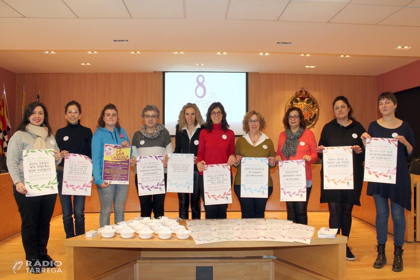 Tàrrega commemora el Dia Internacional de les Dones amb una campanya que divulga els drets assolits gràcies al moviment feminista