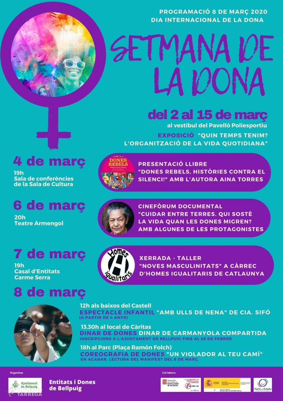 Bellpuig reivindica el paper de les dones amb una setmana d'activitats durant el març