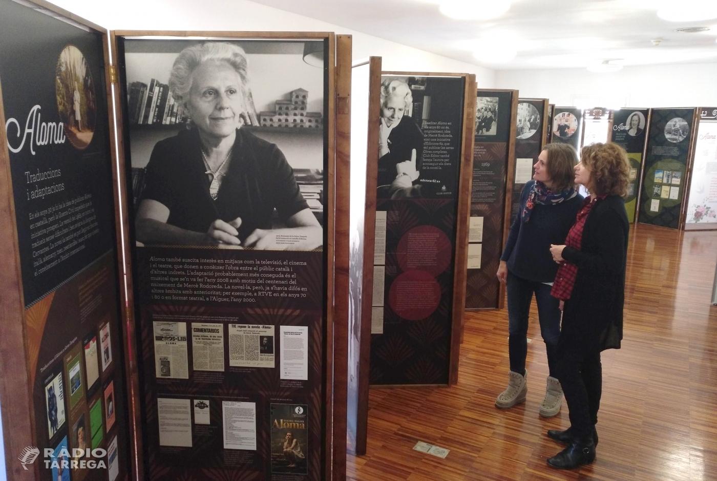 """La Biblioteca Germanes Güell de Tàrrega acull una exposició didàctica sobre la novel·la """"Aloma"""" de Mercè Rodoreda"""