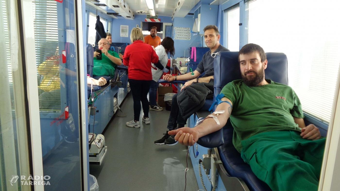 Borges celebra el Dia Vermell recollint 36 litres de sang