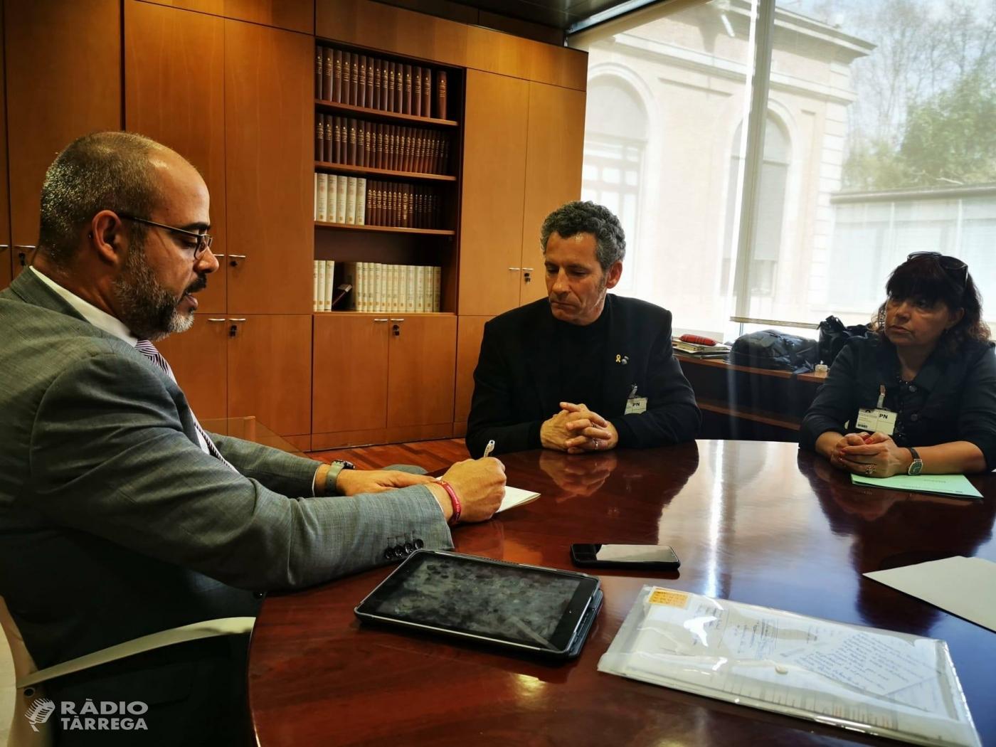 Reunió del president del Consell de l'Urgell amb el conseller Buch per incrementar la seguretat a la comarca