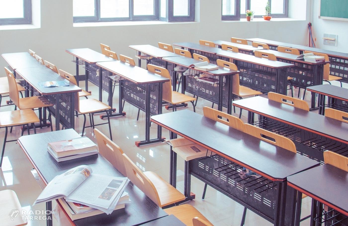 El Govern de la Generalitat anuncia que a partir de demà tanquen els centres educatius i les universitats de tot Catalunya
