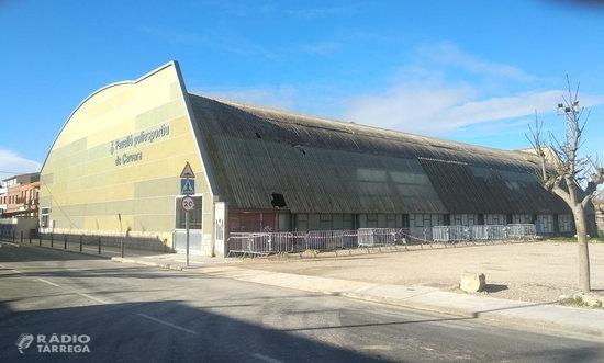 La Paeria de Cervera adjudica la reconstrucció de la coberta del pavelló poliesportiu malmesa per un forta ventada