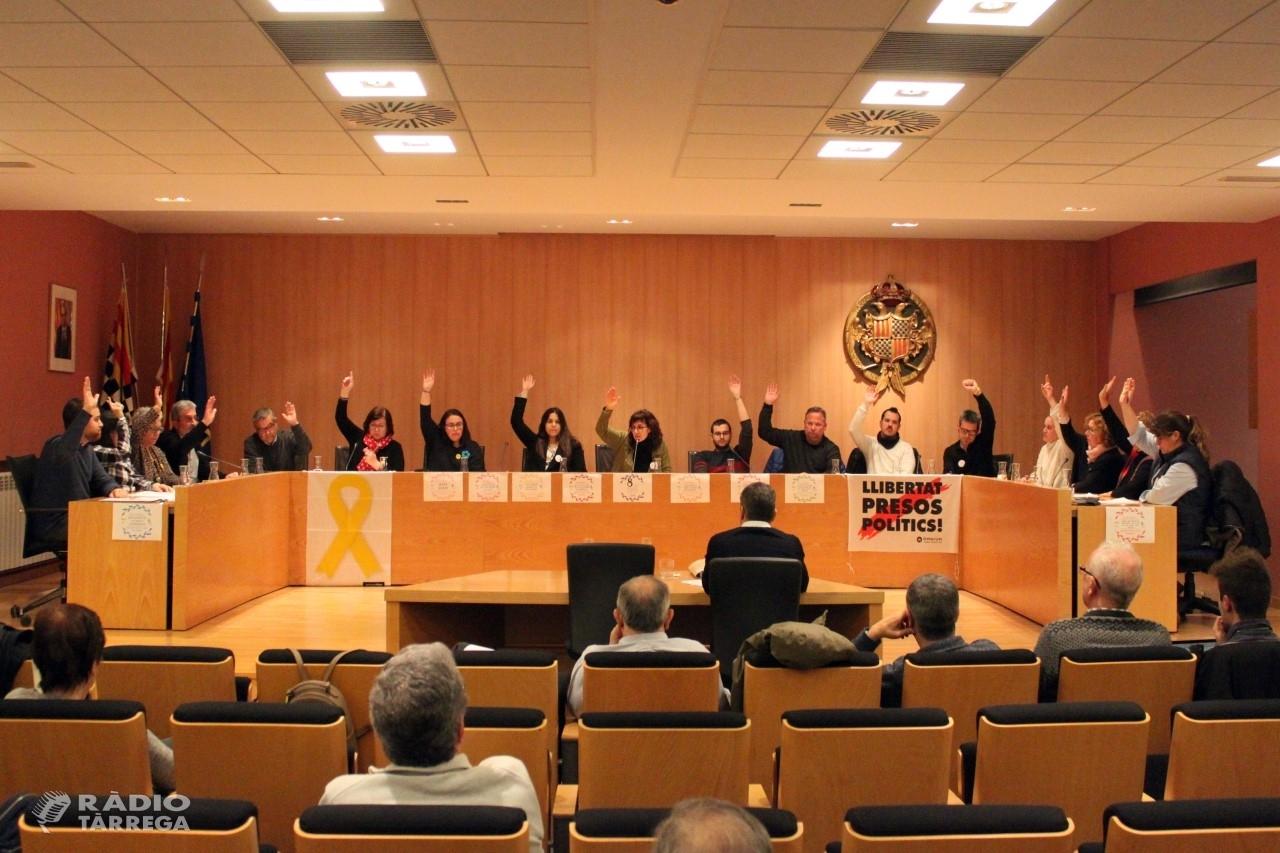 L'Ajuntament de Tàrrega celebrarà demà dijous el seu primer Ple telemàtic