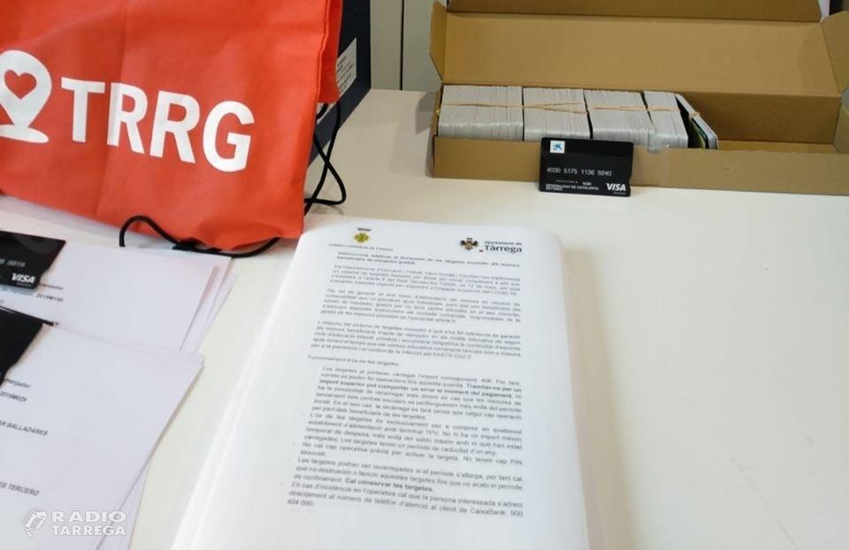 L'Ajuntament de Tàrrega ha començat a repartir les 361 targetes moneder per a les famílies que reben ajuts de menjador