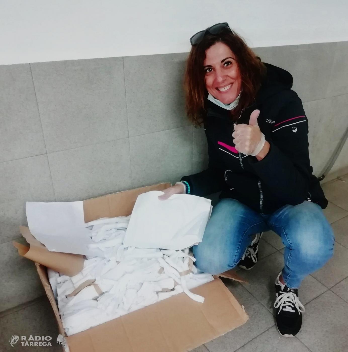 Comerços targarins donen material per fer mascaretes casolanes a Tàrrega i ja s'han rebut més de 500 euros en donatius