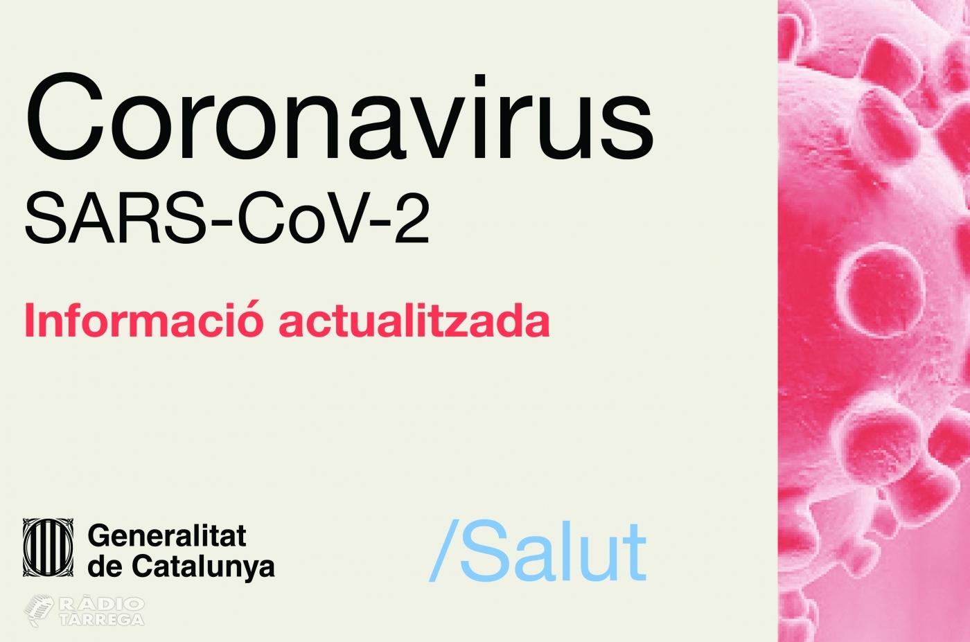 Salut confirma que en les últimes hores han mort 5 persones amb coronavirus a la Regió Sanitària de Lleida i 1 persona a la RS Alt Pirineu i Aran